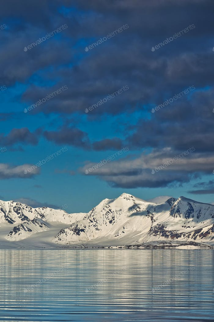Snowcapped Mountains, Arctic, Norway