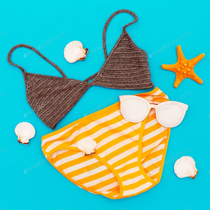 Thumbnail for Swimsuit. Vacation. Summer. Minimal style beach