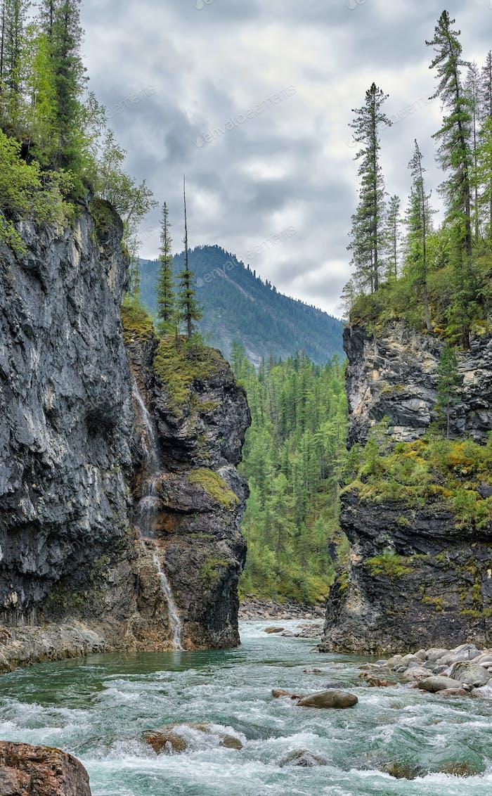 Narrow Passage of Mountain River