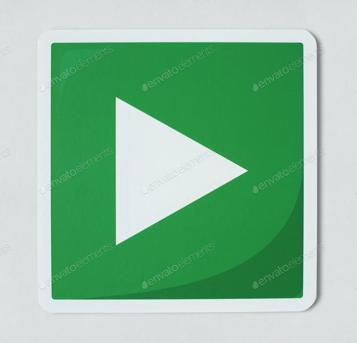 Play media sign technology icon