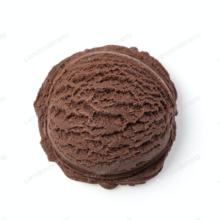 chocolate ice cream balls