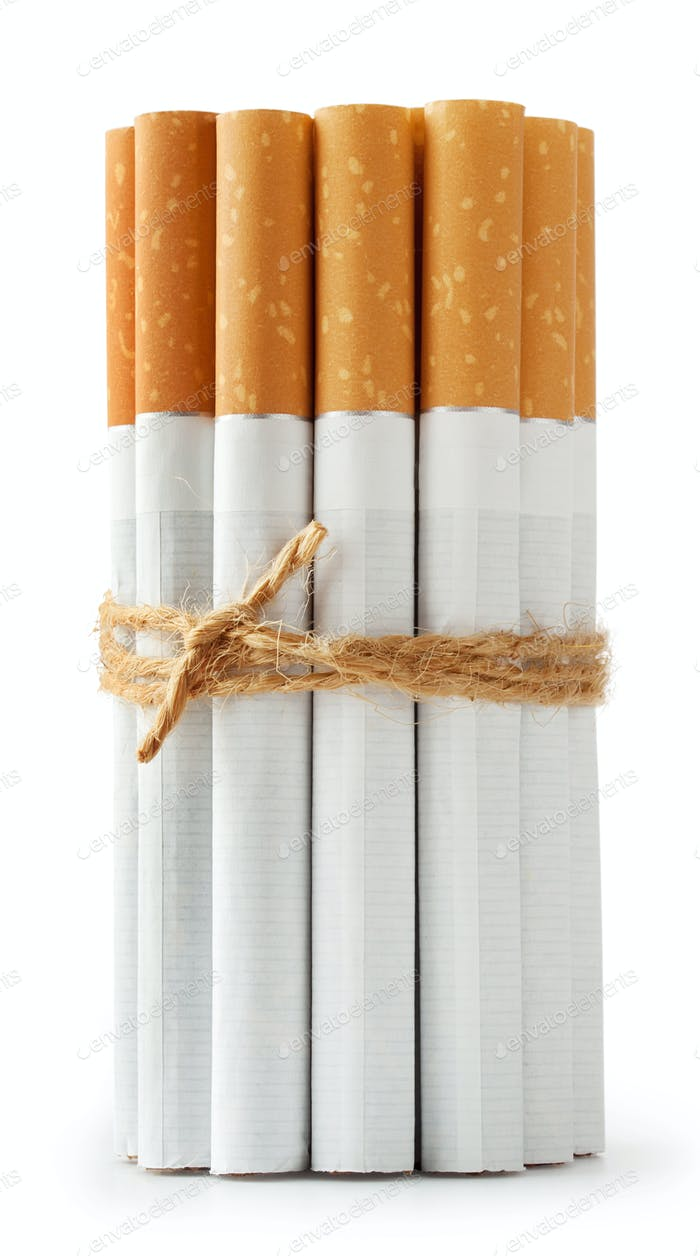 Zigaretten am Seil