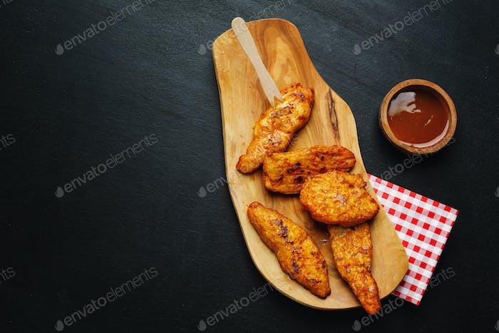 Chicken breast chunks fast food