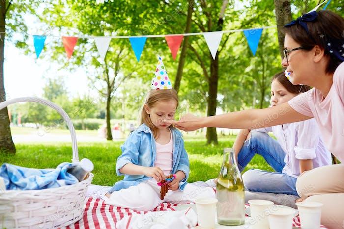 Birthday picnic in park