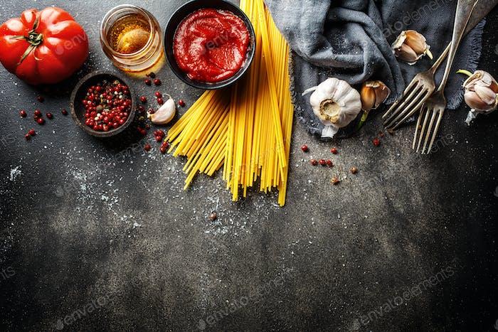 Zutaten für das Kochen italienische Küche