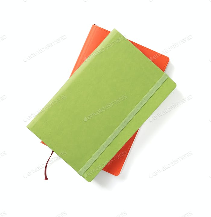 colorful notebook at white background