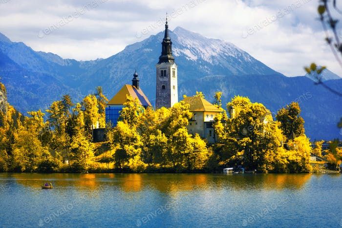 Lake Bled with the Assumption of Mary Pilgrimage Church