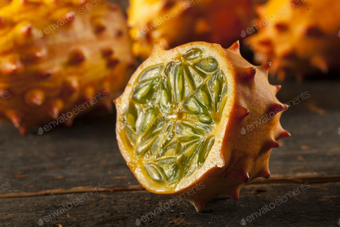 Organic Orange Kiwano Melon