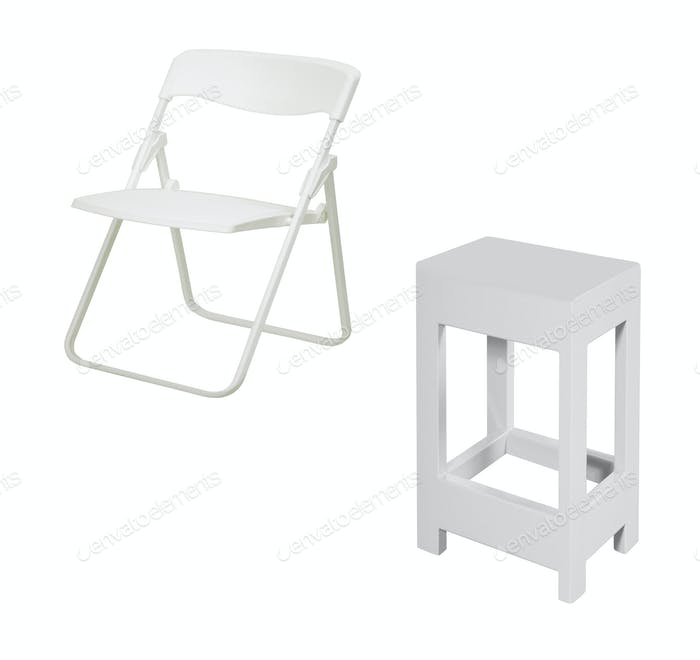 folding chairs isolated