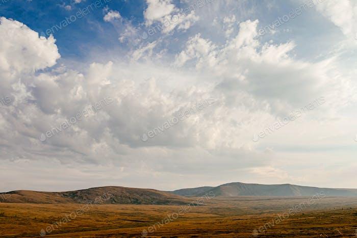 Altai Bergtal Herbst welken Gras