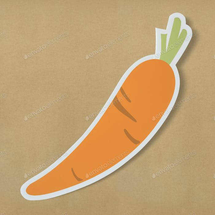 Healthy nutritious carrot cut out icon