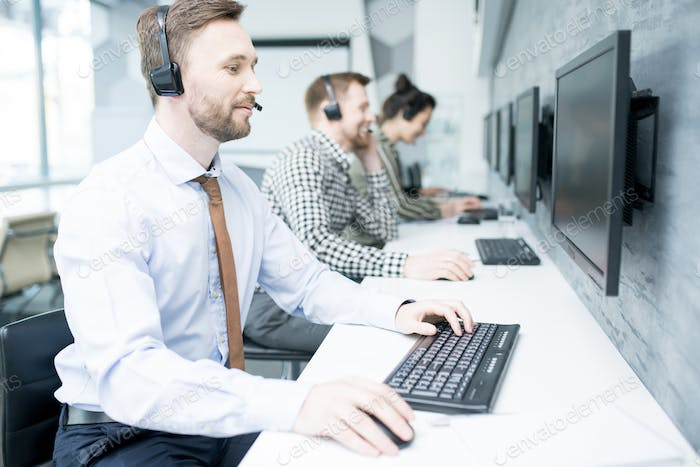 Handsome  Customer Support Operator