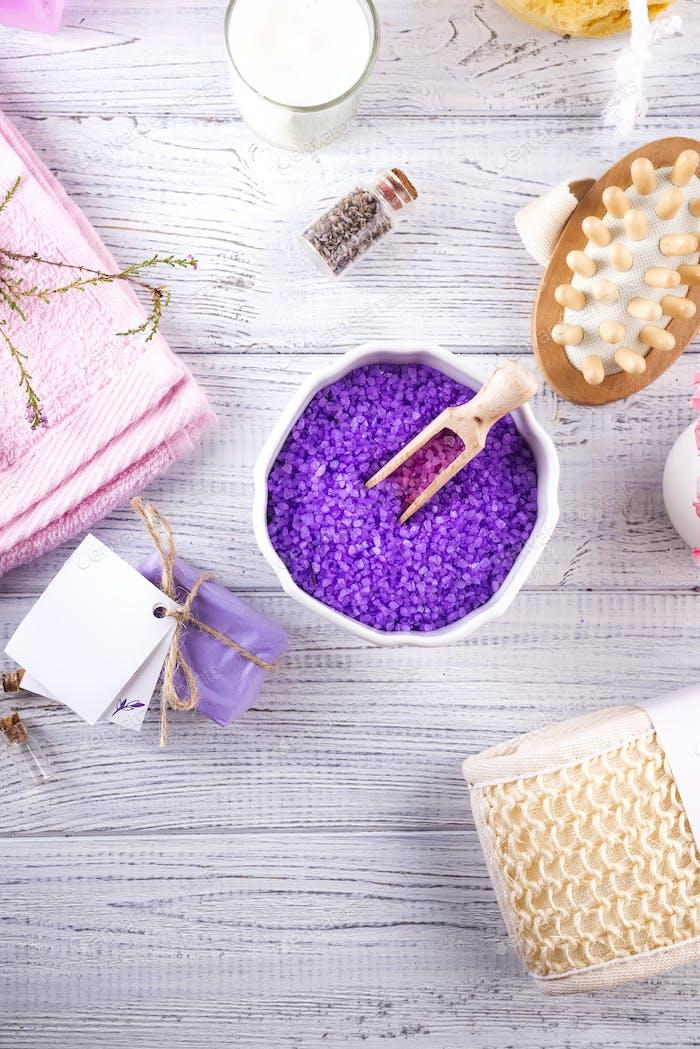 Diverse Spa- und Beautybedrohungsprodukte