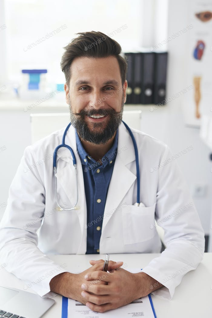 Portrait of confident doctor at work