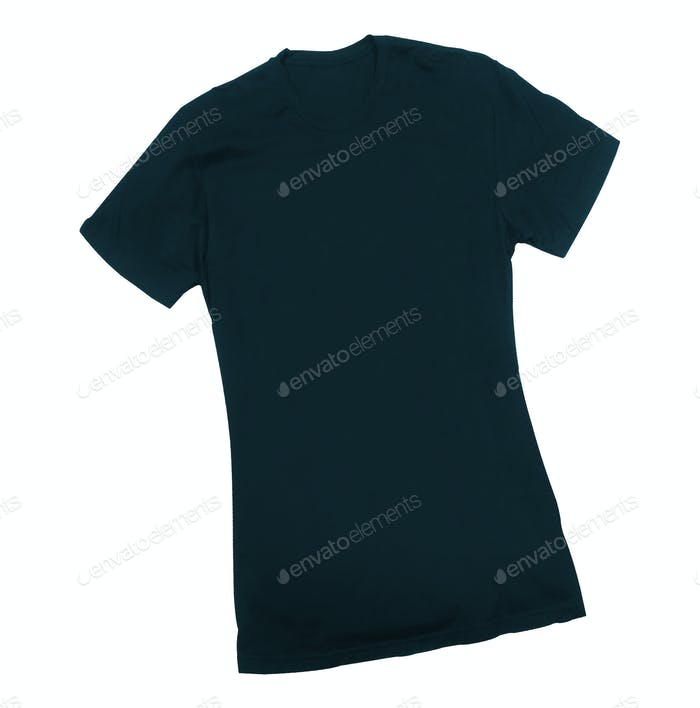 Dark blue tshirt isolated