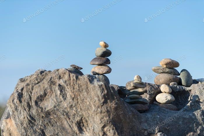 Stein Stapel Nahaufnahme, Konzept der Balance und Harmonie