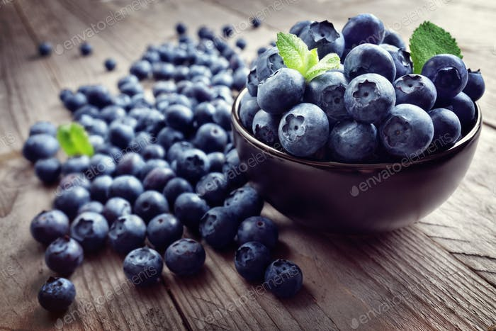 Blueberry antioxidant organic superfood