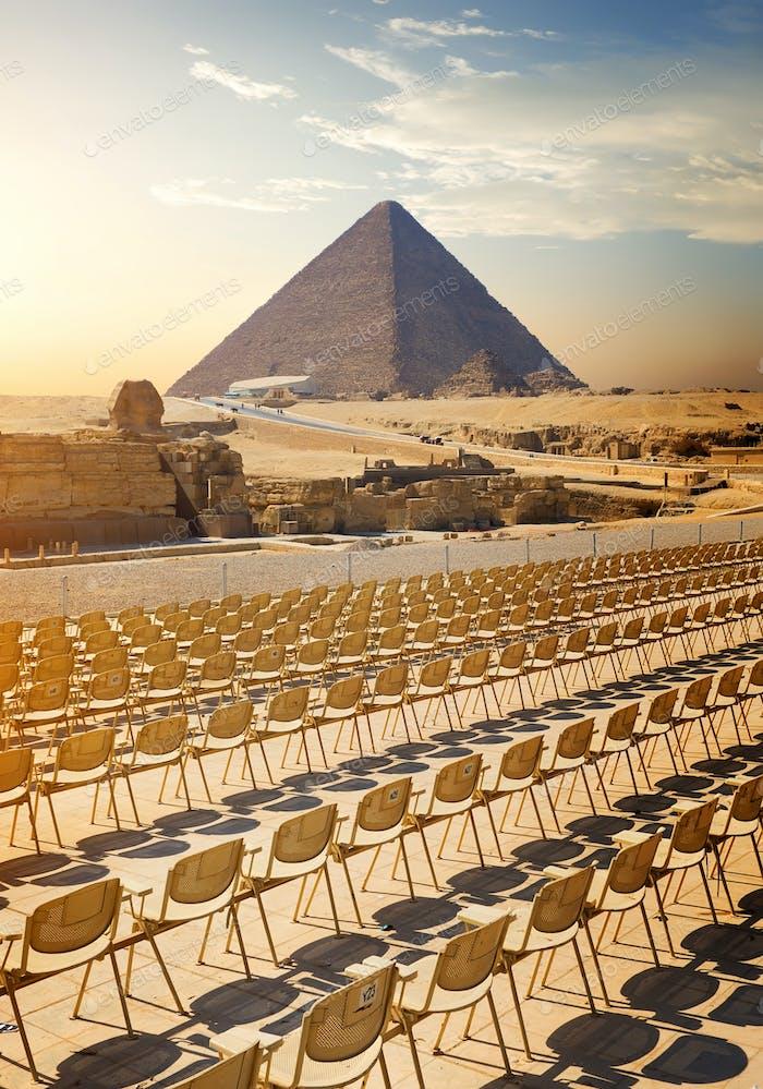 Near the pyramids