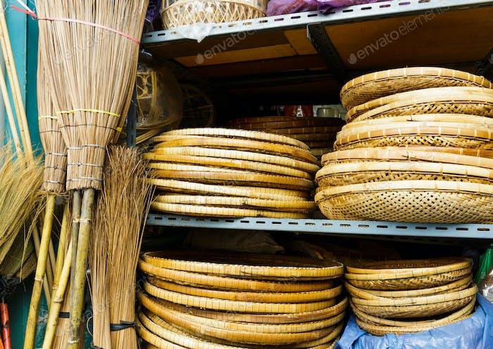 Wicker handgefertigter Holzkorb zum Verkauf