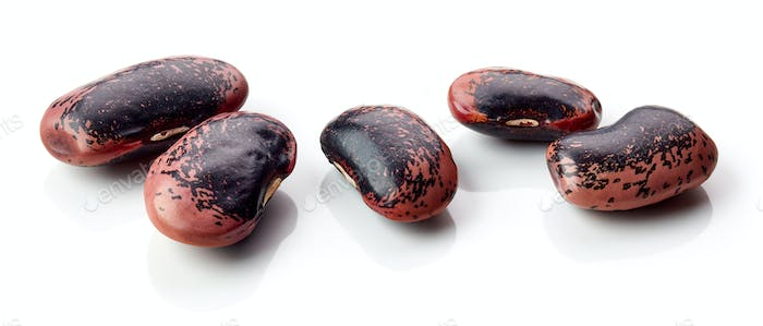 colorful beans on white background