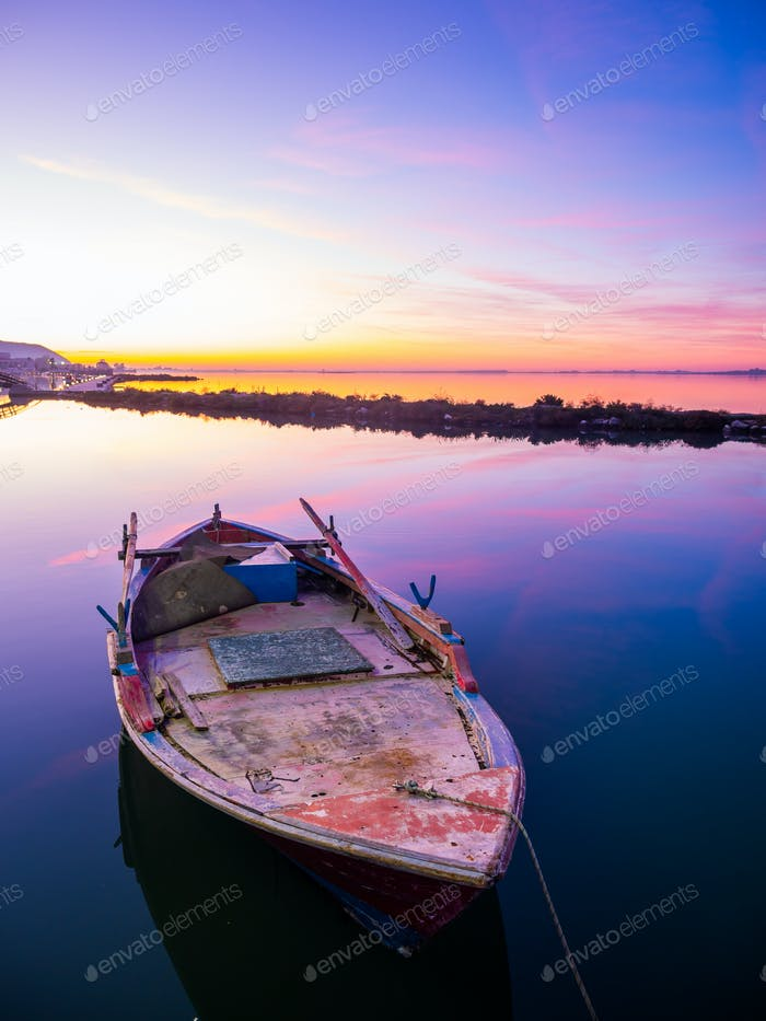 Fishing boat on the Ionian island of Lefkas
