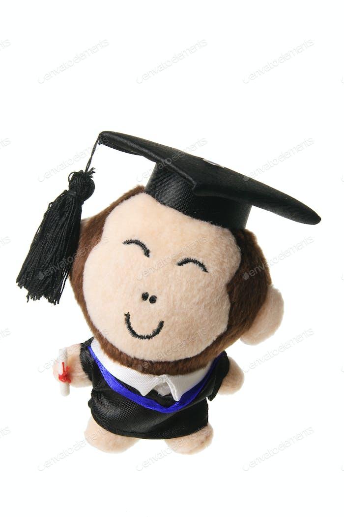 Soft Toy Graduation Monkey