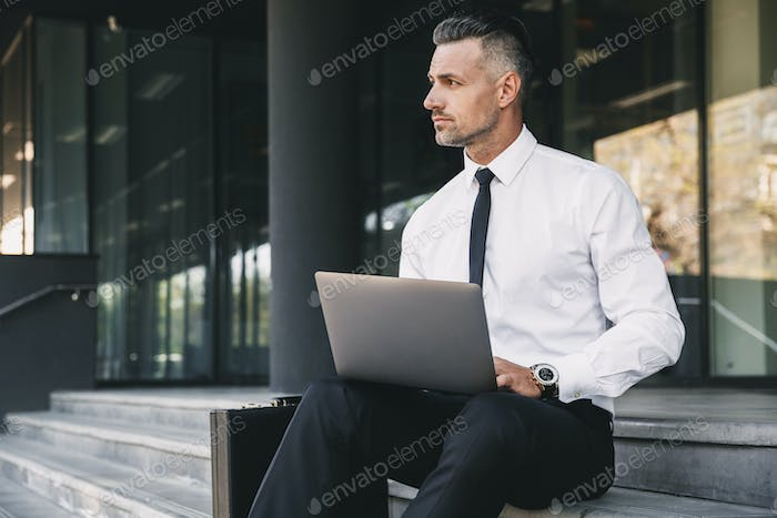 Portrait of a concentrated young businessman