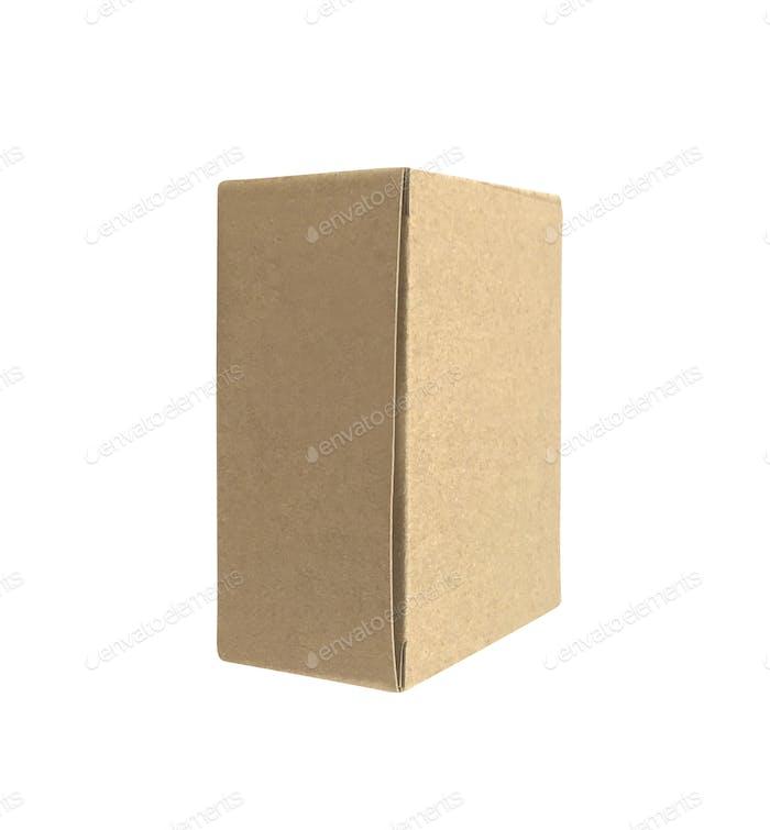 Karton isoliert auf weiß