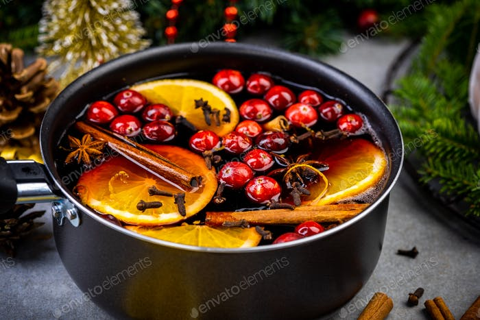 Traditional Festive Warming Mulled Wine