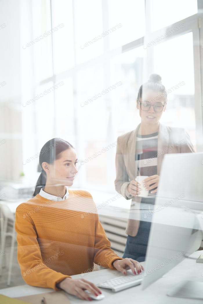 Girls by computer