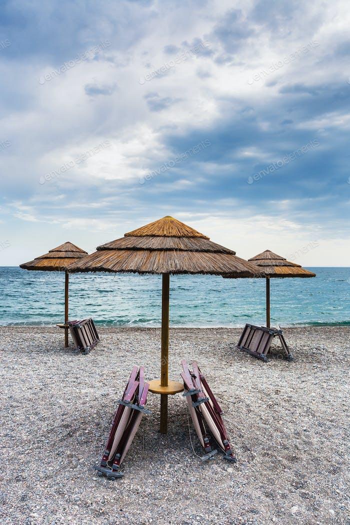 empty beach Marina di Cottone on Ionian sea