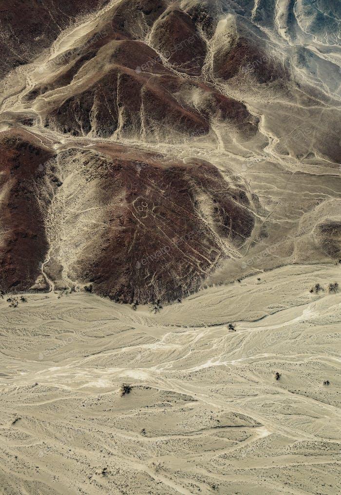 Astronaut Geoglyph in Nazca, Peru