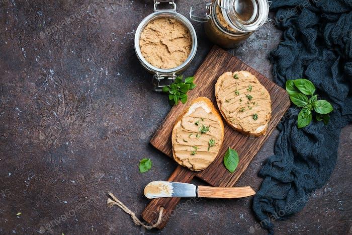 Fresh chicken liver pate