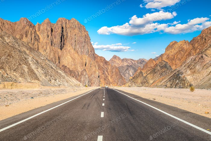 Highway In desert