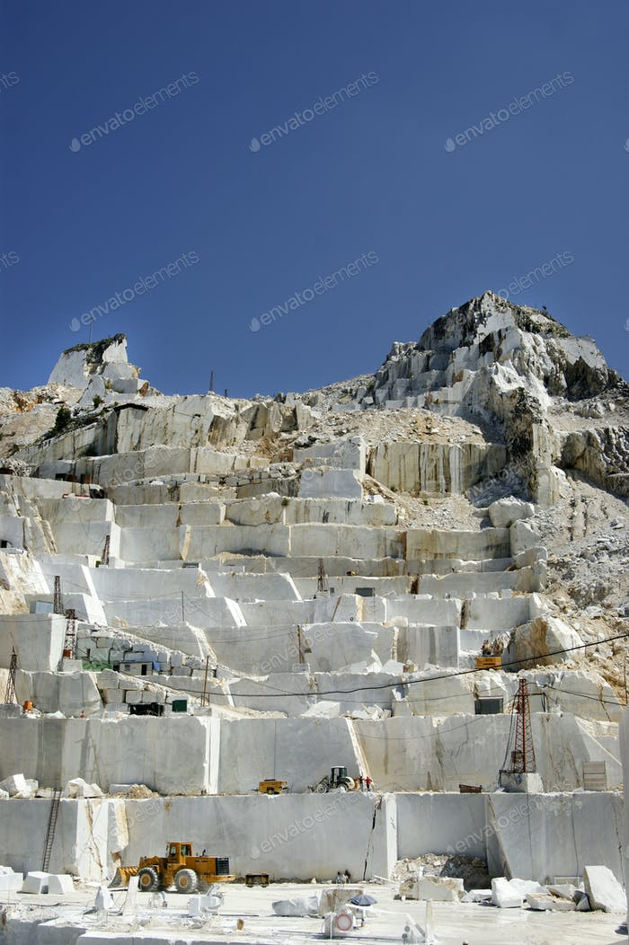 Marble quarry in Carrara White Italy