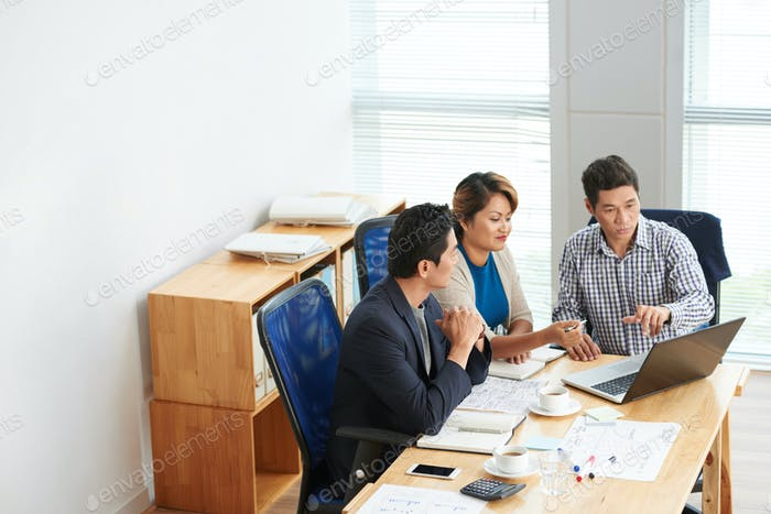 Business Team Developing Plan