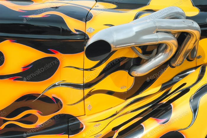 flaming paintwork