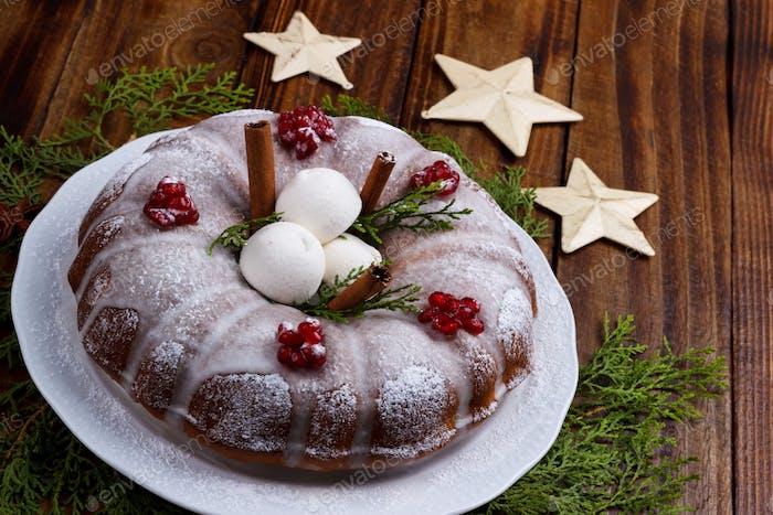 Traditional homemade christmas cake