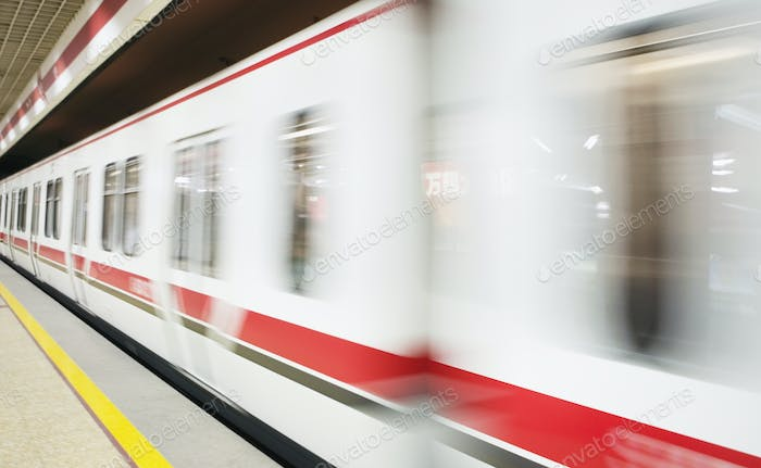 Subway Train Races By