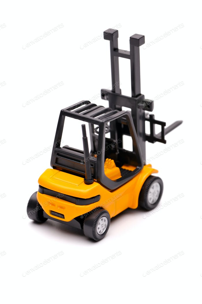 Yellow toy forklift