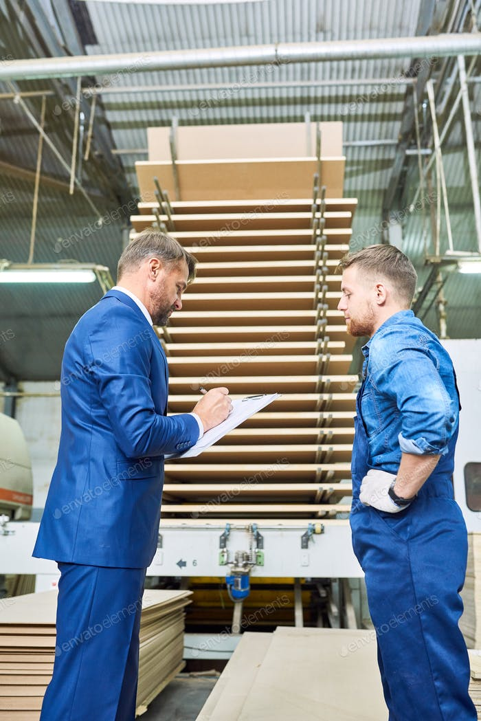 Safety Inspection at Modern Factory