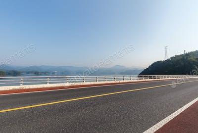 road on lake
