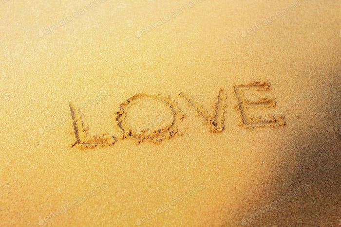 love on sand beach