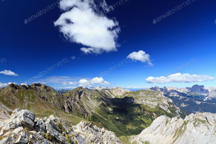 Dolomites landscape on summer