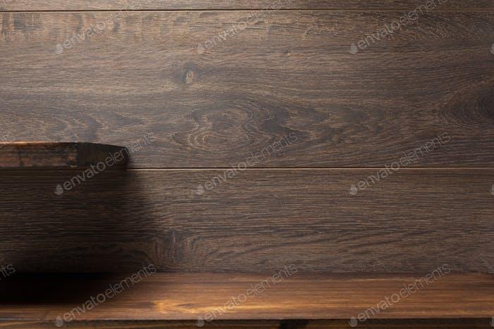 estante de De madera en marrón