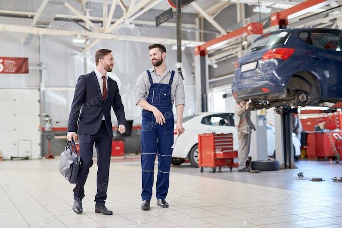 Businessman in Car Service