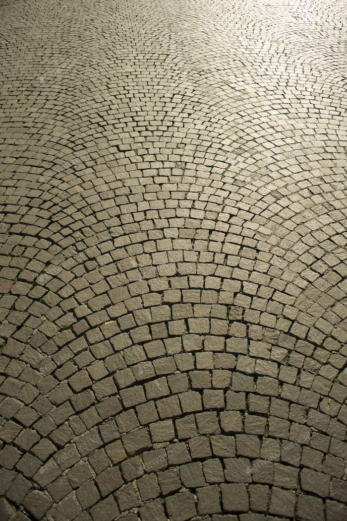 Urban paving cobblestones