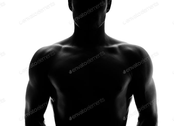 Muscular silhouette of a young man