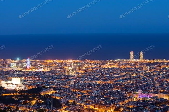 Barcelona vista desde el Tibidabo