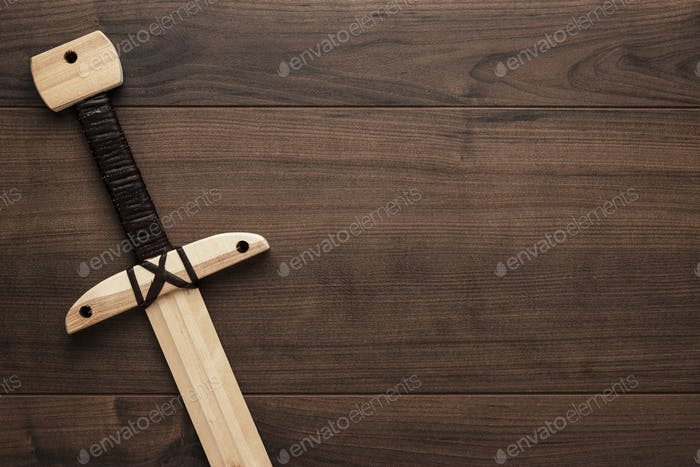 wooden training toy sword